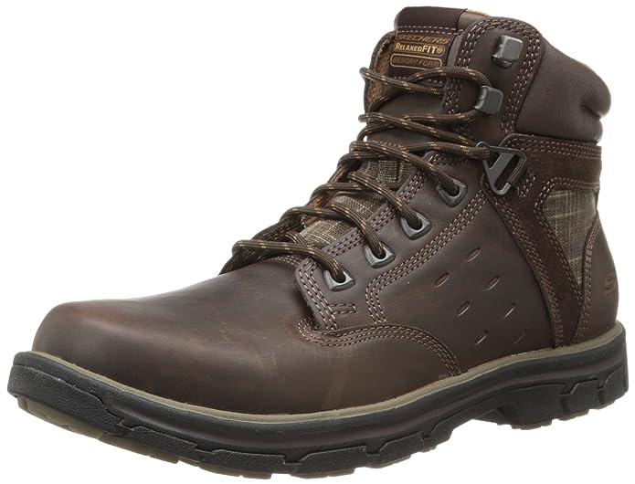 Skechers Segment Gundy, Botines para Hombre, Marrón, 46 EU: Amazon.es: Zapatos y complementos