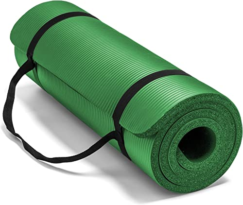 Spoga, Premium 5 8-inch Extra Thick 71-inch Long High Density Exercise Yoga Mat with Comfort Foam and Carrying Straps, for Exercise, Yoga, and Pilates