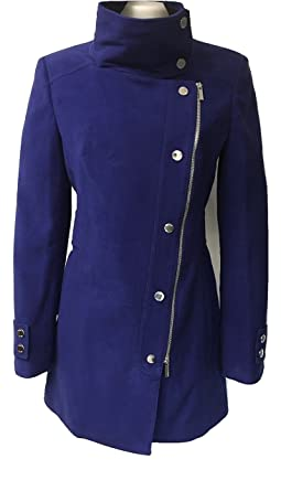 41d38b2202 Karen Millen Signature Moleskin Coat Blue (Women's UK Size 10 / EU 38 / US