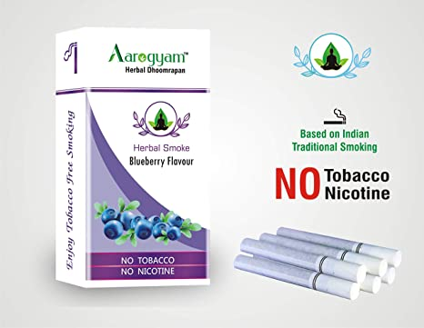 Aarogyam Herbals Cigarettes for Smokers Tobacco Nicotine-Free Herbal  Relieve Stress (Blueberry Flavour)