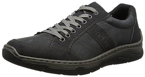 Rieker Zapatos de Cordones Para Hombre Negro 45 EU Non8qFshW
