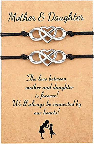 Details about  /Leather Bracelet Wristband /'Love Between A Mother /& Daughter/' Ladies Girls Gift