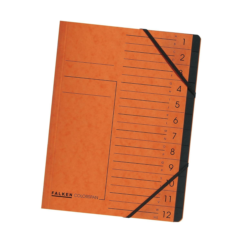 Falken, cartellina Colorspan con divisori 12 tasche 12 scomparti verde 11288214