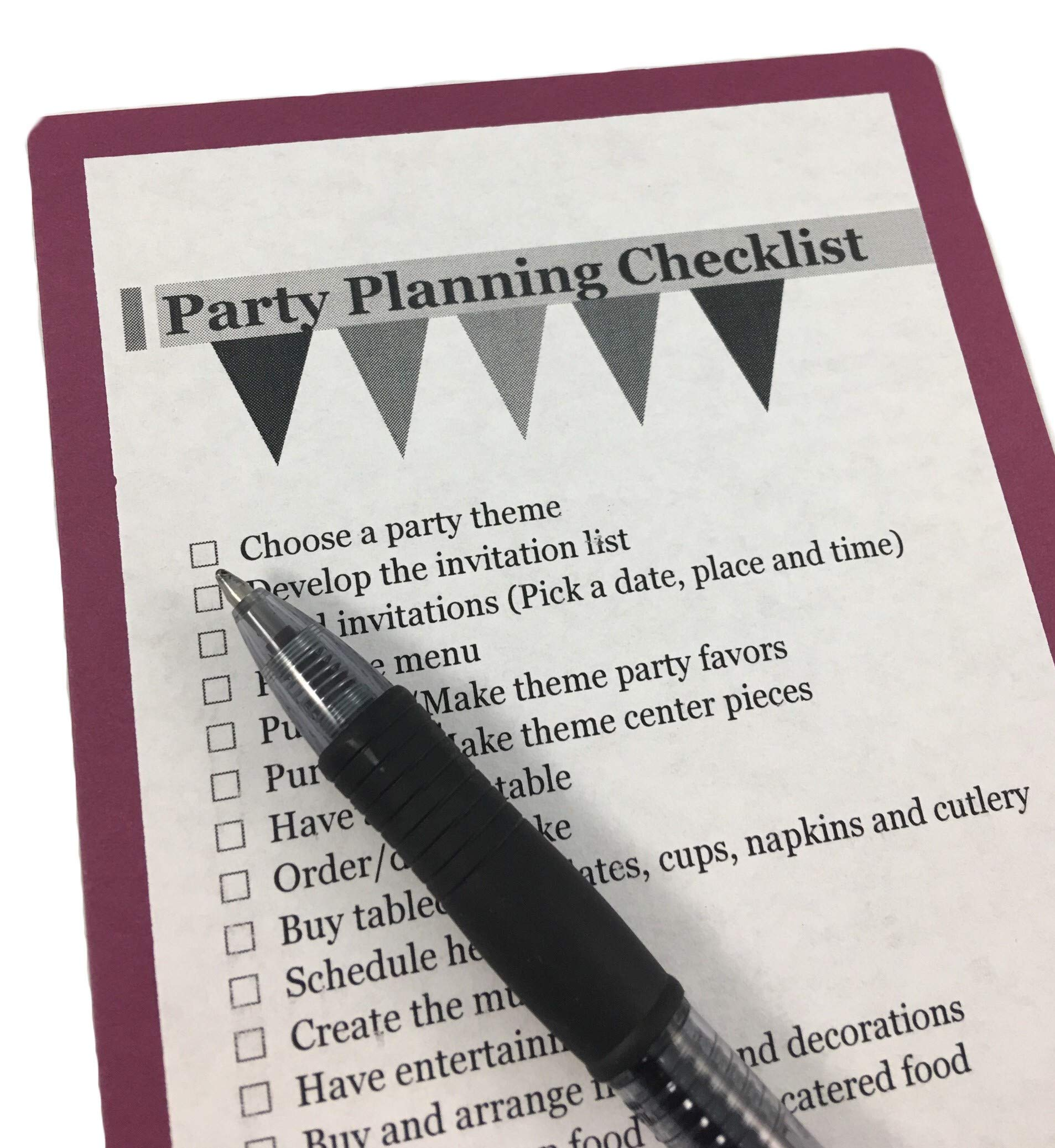 Burgundy Beverage Napkins (100-count) and Burgundy Dinner Napkins (100-count), and Comes with a Party Planning Checklist by Creative Converting Touch of Color
