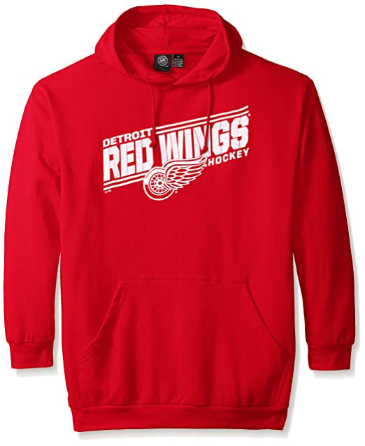 info for 7f6bc ab7b6 Profile Big & Tall NHL Men's Red Wings Fleece Pullover Hoodie