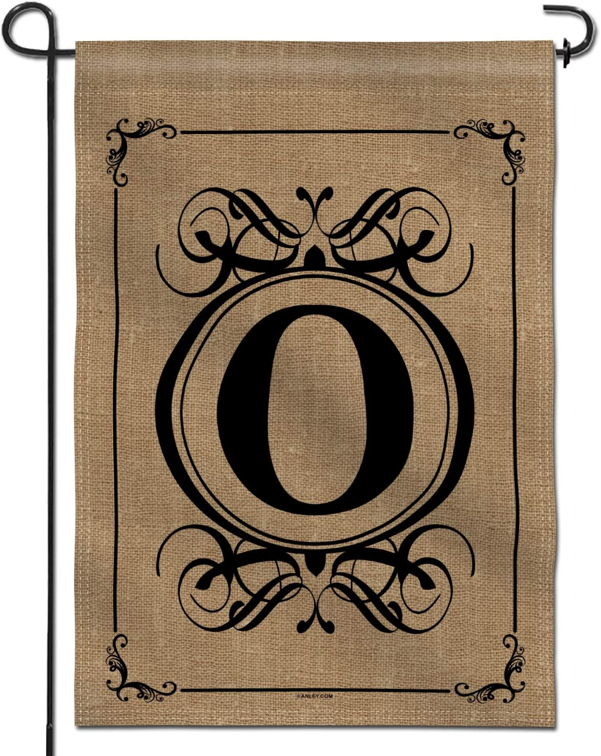 Anley Classic Monogram Letter O Garden Flag, Double Sided Family Last Name Initial Yard Flags - Personalized Welcome Home Decor - Weather Resistant & Double Stitched - 18 x 12.5 Inch