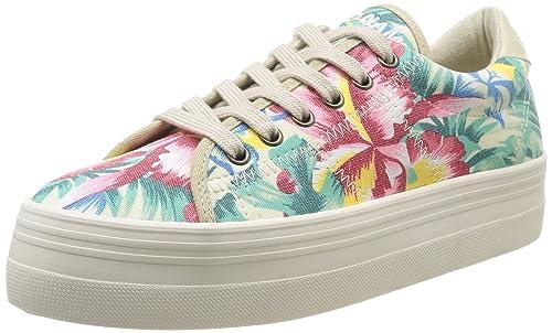 No Name Plato - Zapatillas de Deporte de Canvas Mujer: Amazon.es: Zapatos y complementos