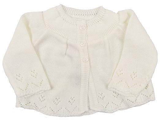 b87307ceaaa5 Baby Knitted Cardigan Unisex Matinee Jacket Cream Newborn 0-3 Month ...
