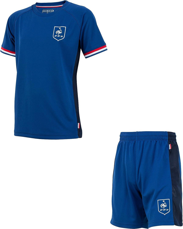 Equipe de FRANCE de football T-Shirt FFF Collection Officielle Taille Enfant gar/çon