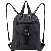Drawstring Backpack Bag Gym Sports String Sack Pack for Teens Men and Women