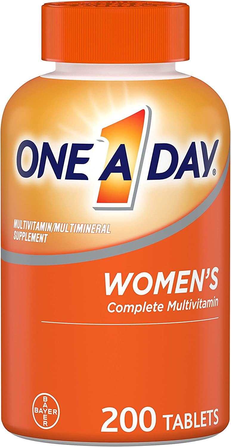 Multivitamin for Women by One a Day, Vitamins for Women with Vitamin C, Vitamin D, B6, B12, Biotin, Calcium, & more, 200 Count: Health & Personal Care