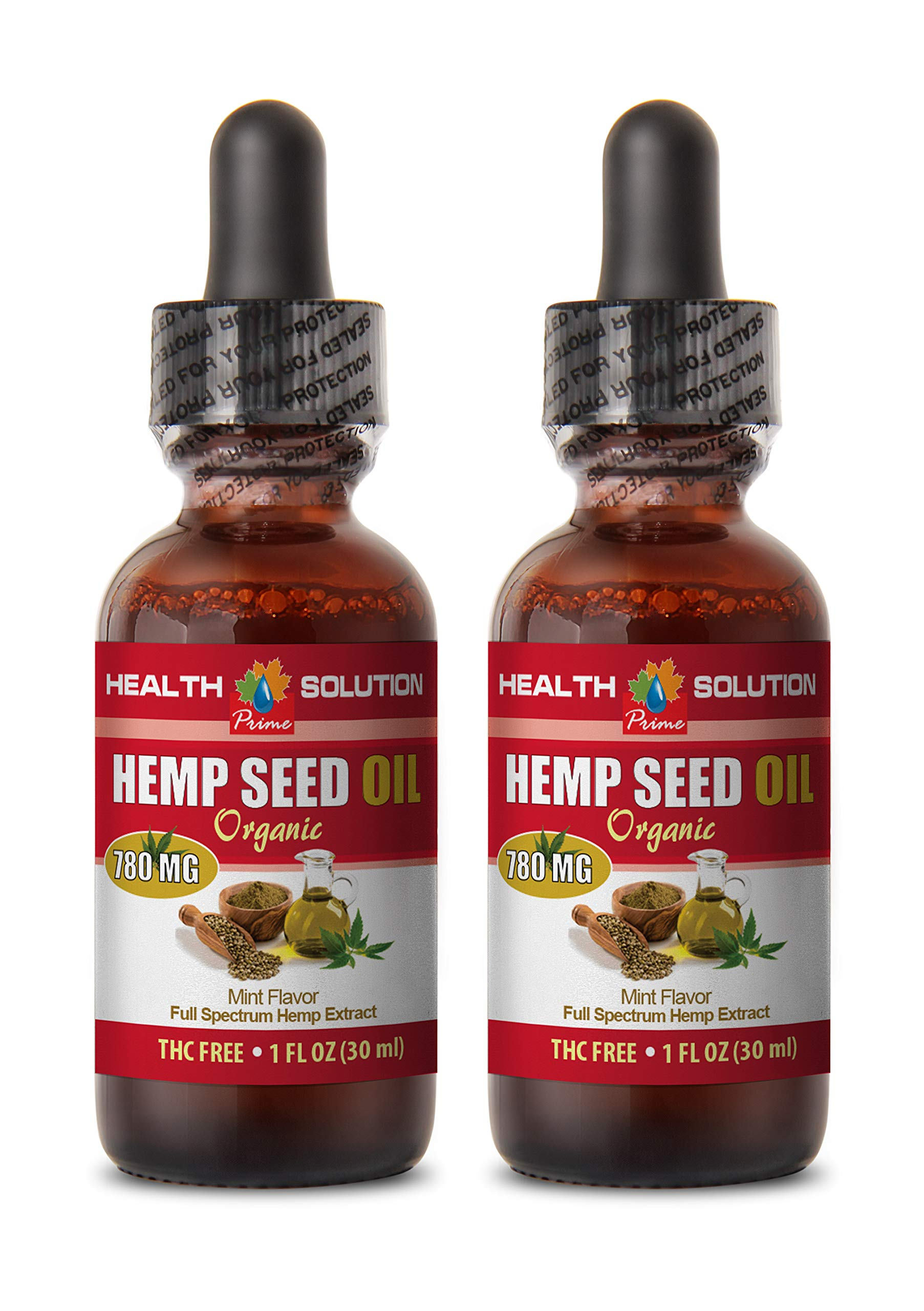 Stress Relief for Adults Anxiety - Hemp Seed Oil Organic 780 MG Drops - Hemp Seed Oil Power - 2 Bottles 2 FL OZ (60 ML)