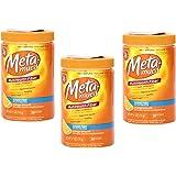 Metamucil Multihealth Fiber 100% Natural Psyllium Husk Sugar Free Orange Supplement - 3 Pack of 30 Doses or 6.1 Oz