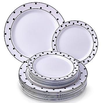 Fancy Party Plates Set   240 PC Dinnerware Set   120 Dinner Plates and 120 Dessert  sc 1 st  Amazon.com & Amazon.com: Fancy Party Plates Set   240 PC Dinnerware Set   120 ...