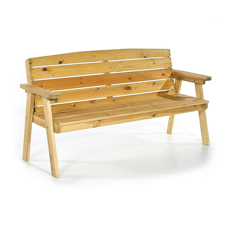 BrackenStyle Farmhouse Wooden Bench 150cm LeisureBench