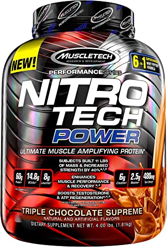 NitroTech Power 100 Whey Protein Powder