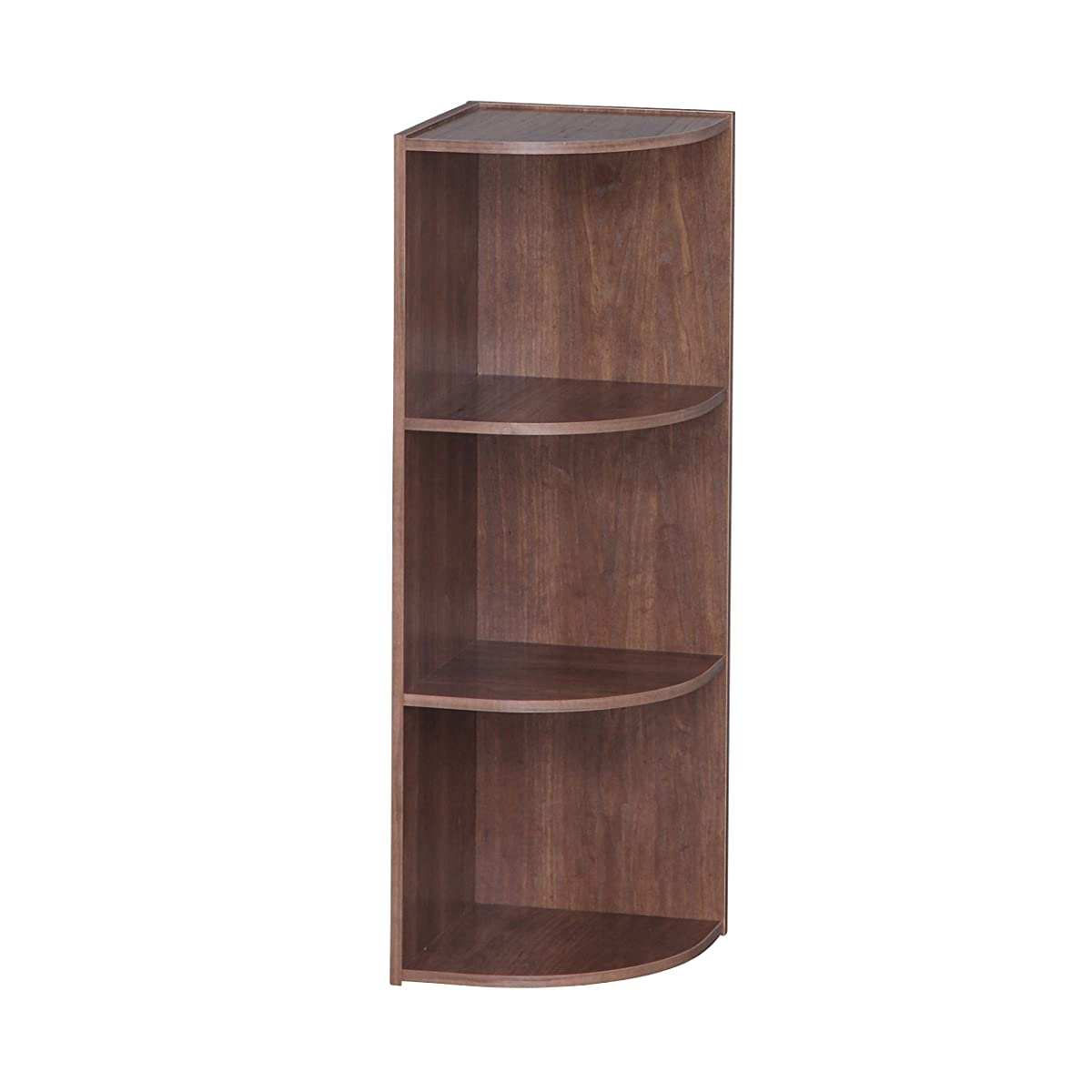 IRIS 3-Tier Corner Curved Shelf Organizer, Brown