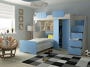 Etagenbett Geko : Etagenbett geko farbe blau amazon küche haushalt