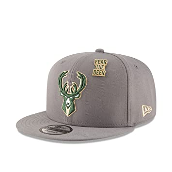 online retailer 804b0 80d34 New Era Milwaukee Bucks 2018 NBA Draft 9FIFTY Snapback Cap Storm Grey, One  Size