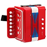 Classic Cantabile Bambino Children's Accordion 2 Basses - Red