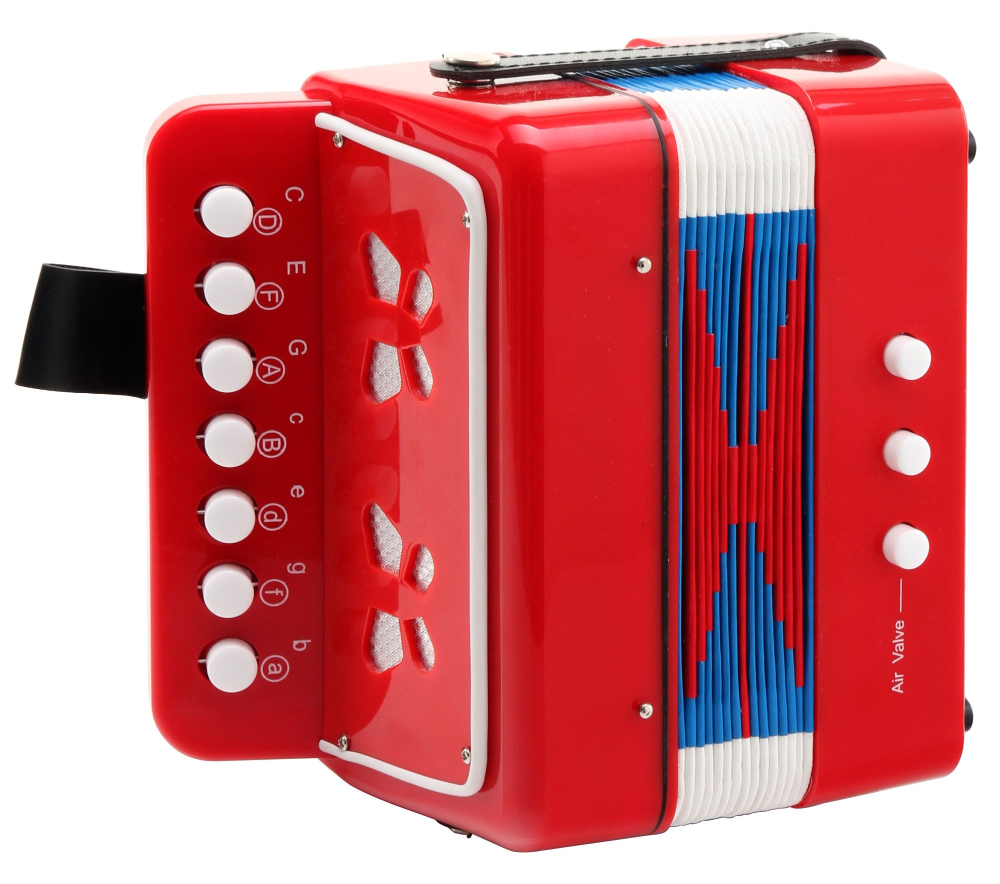 Classic Cantabile Bambino Children's Accordion, Red, Two Basses