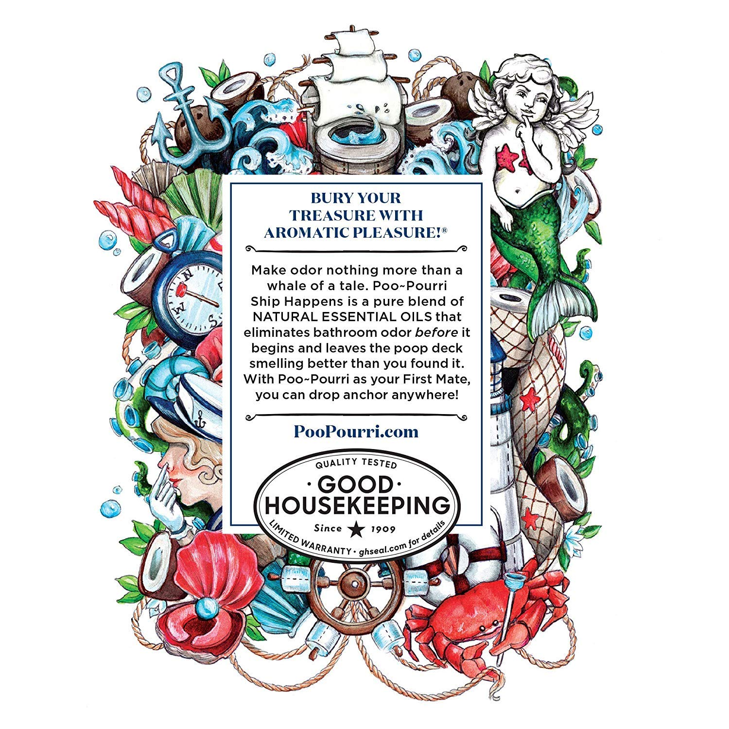 Poo-Pourri in A Pinch Pack Toilet Spray Gift Set, 5 Pack 10 mL, and 1.4 Ounce Ship Happens Bottle by Poo-Pourri (Image #6)