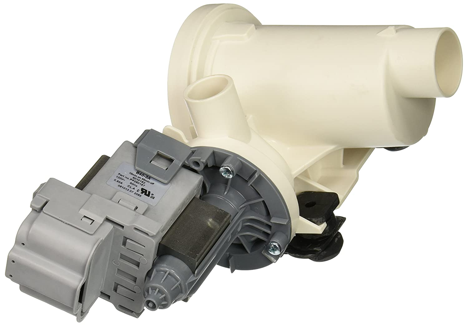 Supco drain pump for whirlpool 280187 complete pump motor for How to test a washer drain pump motor