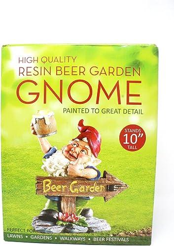Cascade Sales Group Beer Garden Gnome Lawn Ornament Beer Garden