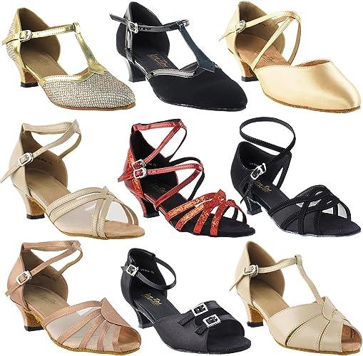 50 Shades White Ballroom Latin Dance Shoes for Women Ballroom Salsa Wedding Clubing Swing