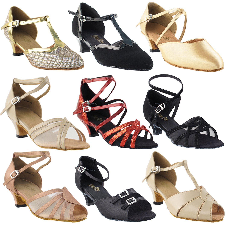 [Gold Pigeon Shoes] レディース B078V1GLZ4  9691 Light Brown Satin 8.5 M US