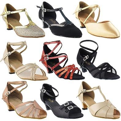 "6f00ef88d GP 50 Shades of Low Kitten Heel Dance Dress Shoes: 6006 Black PU,1.3"""