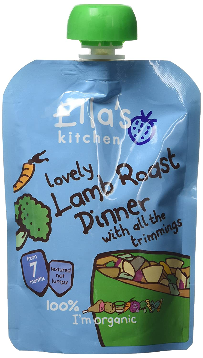 Ella's Kitchen Stage 2 from 7 Months Organic Lovely Lamb Roast Dinner with all the Trimmings 130 g (Pack of 6) Ella's Kitchen 69940