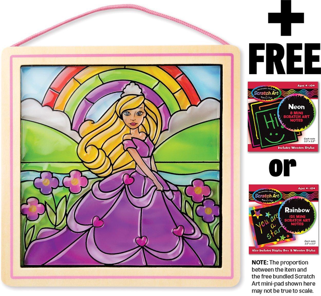 Princess: Stained Glass Made Easy Series + FREE Melissa & Doug Scratch Art Mini-Pad Bundle [94351]