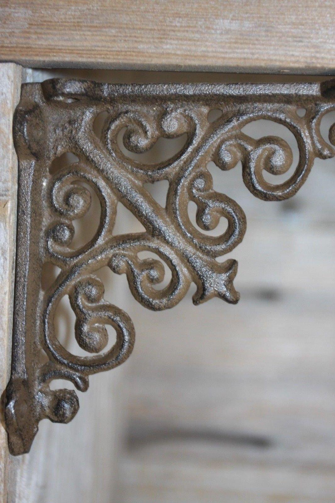 Southern Metal Set of 10 Small Cast Iron Shelf Brackets 3 3/4'' x 3 7/8'' Volume Priced B-27