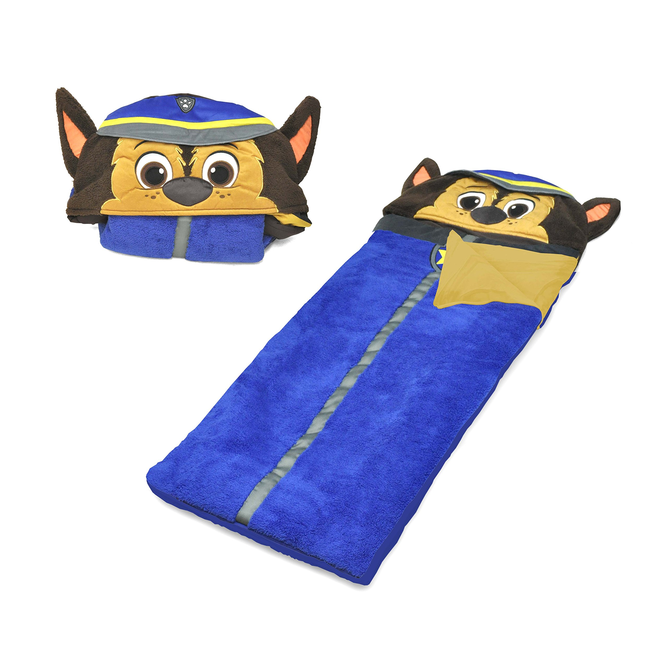 Paw Patrol Chase Hooded Paw Patrol Slumber Bag, Blue
