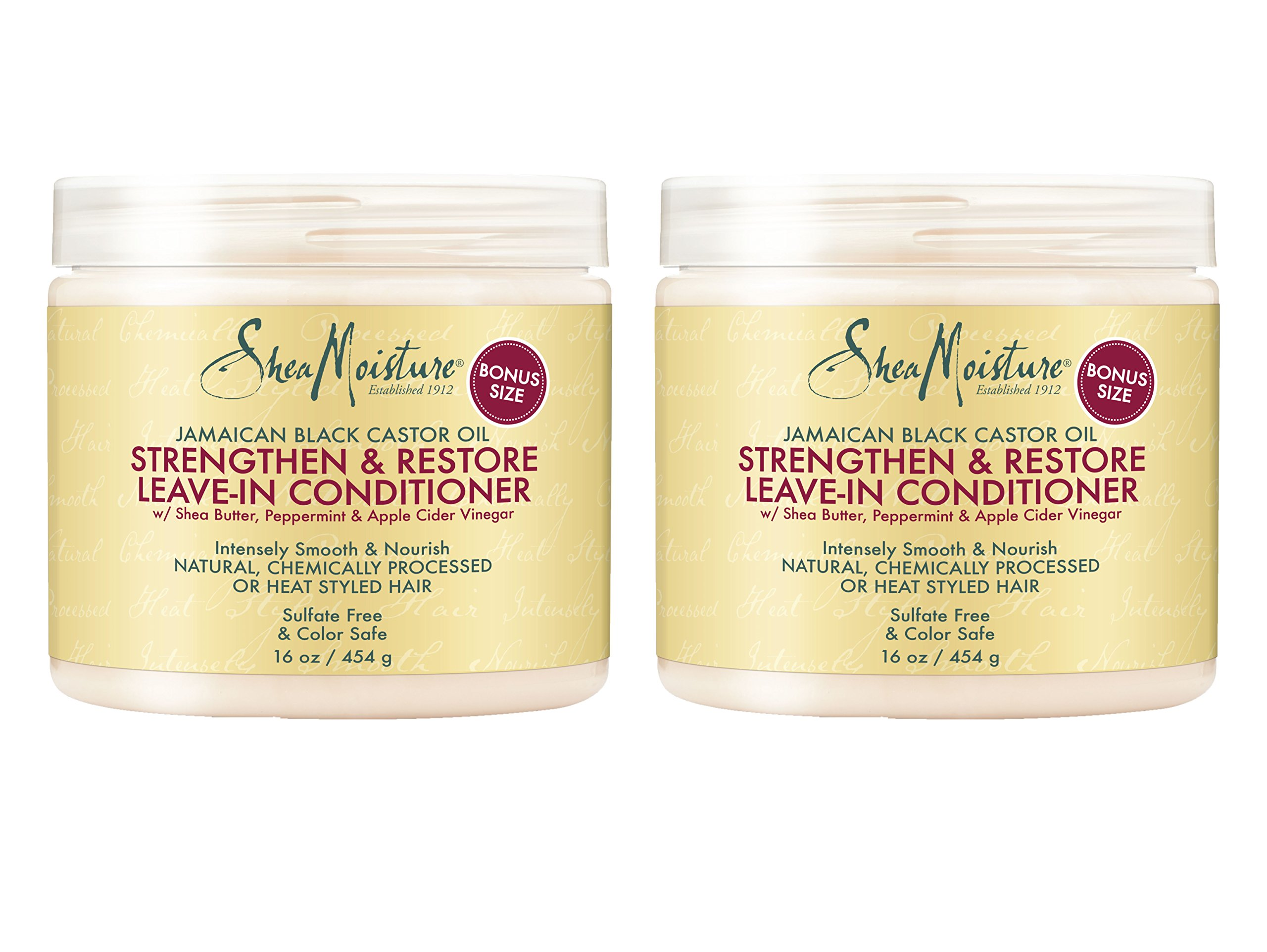 Shea Moisture Strengthen & Restore Leave-In Conditioner 16 oz (Pack of 2)