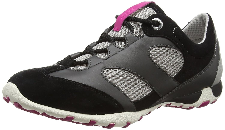 Geox D Freccia Damen Sneakers Grau (Lt Grau/schwarzc0060)