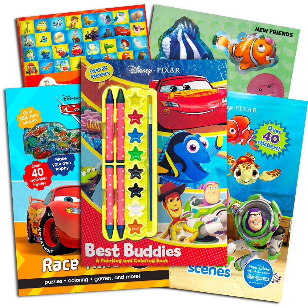 Disney Pixar Adventure Coloring Jumbo 50 Stickers Parragon Books Ltd 9781474821544 Amazon