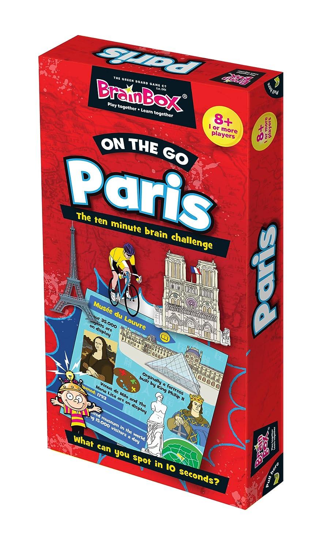 Promoción por tiempo limitado Brainbox On The Go Paris Juego de cartas, 2 a 4 jugadores (Green Board Games 90085) (versión en inglés)
