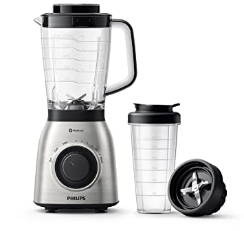 Philips Viva Collection HR3553/00 700W Licuadora (Batidora de Vaso, Negro, Metálico, 2 L, San, Acero Inoxidable), 700 W: Amazon.es: Hogar