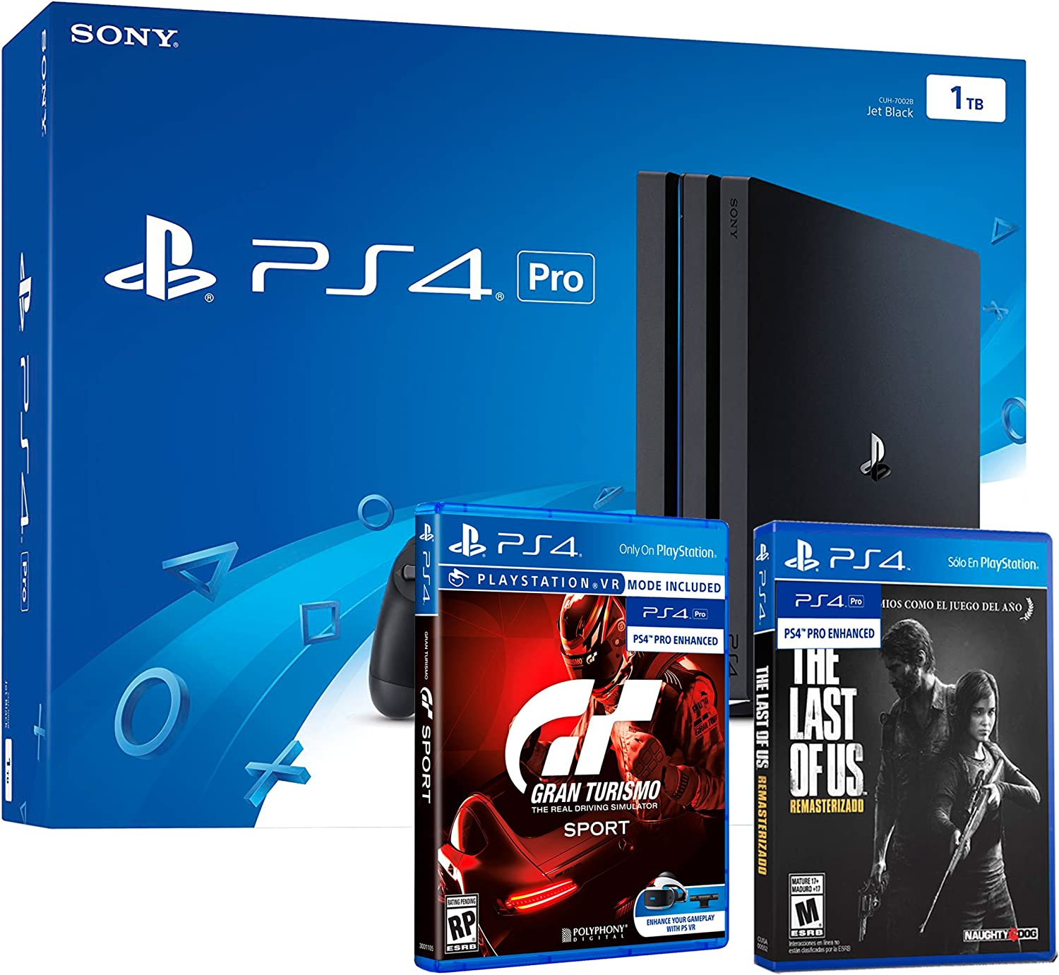 PS4 PRO 1TB Playstation 4 - PACK 2 Juegos 4K - Gran Turismo Sport