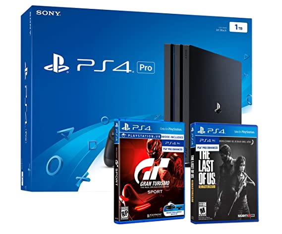 PS4 PRO 1TB Playstation 4 - PACK 2 Juegos 4K - Gran Turismo ...
