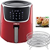 GoWISE USA GW22957 7-Quart Electric Air Fryer with Dehydrator & 3 Stackable Racks, Digital Touchscreen with 8 Functions…
