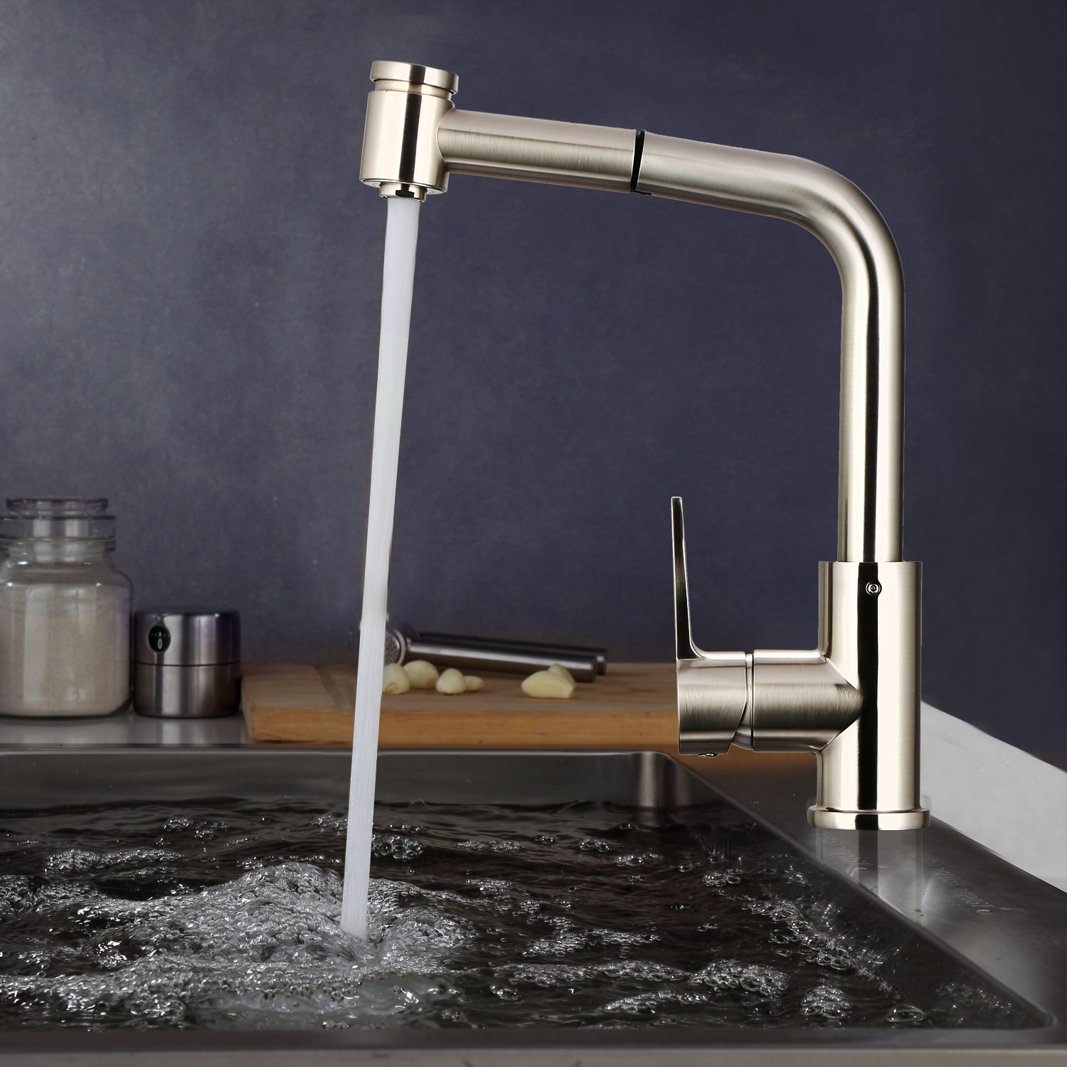 bathwa kitchen best commercial stainless steel single handle pull rh amazon com  best stainless steel pull down kitchen faucet