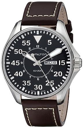 Hamilton Reloj Analogico para Hombre de Quartz con Correa en Cuero H64611535: Amazon.es: Relojes