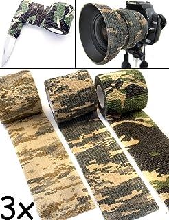 Fotograf Outdoor Saxx/® Ausr/üstung J/äger Gewebe-Band wasserfest mehrfach verwendbar Camouflage Tarn-Tape 4.5m 3er Winter Set Kamera Angler