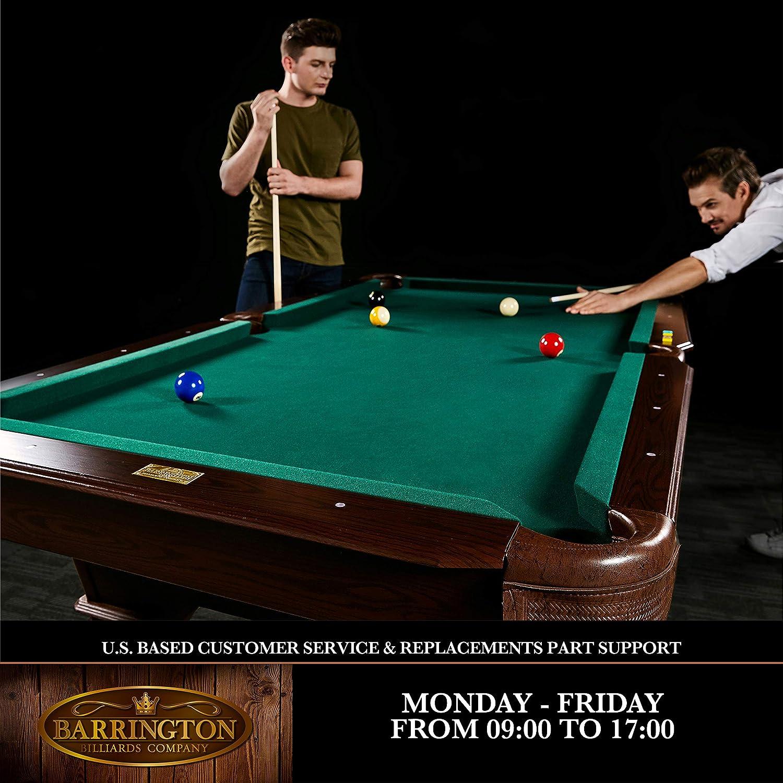 Barrington - Juego de mesa de billar - BLL090_066B, 228.60 cm ...