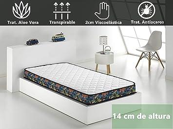 Dormio Sport - Visco - Colchón Viscoelástico 90x200x14 (Todas las medidas): Amazon.es: Hogar