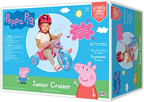 "Amazon.com: Triciclo ""Fly Ride on Tricycle"", Peppa Pig ..."