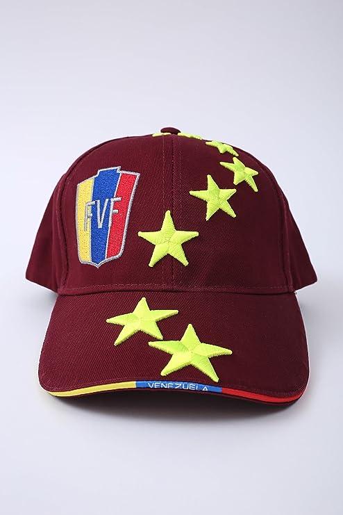 7 ESTRELLAS LA VINOTINTO RETRO NEON STYLE FVF Soccer Hat Burgundy - Gorra  de Venezuela Futbol 578d9248190